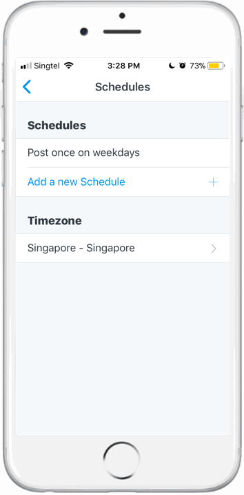 Schedule post 2