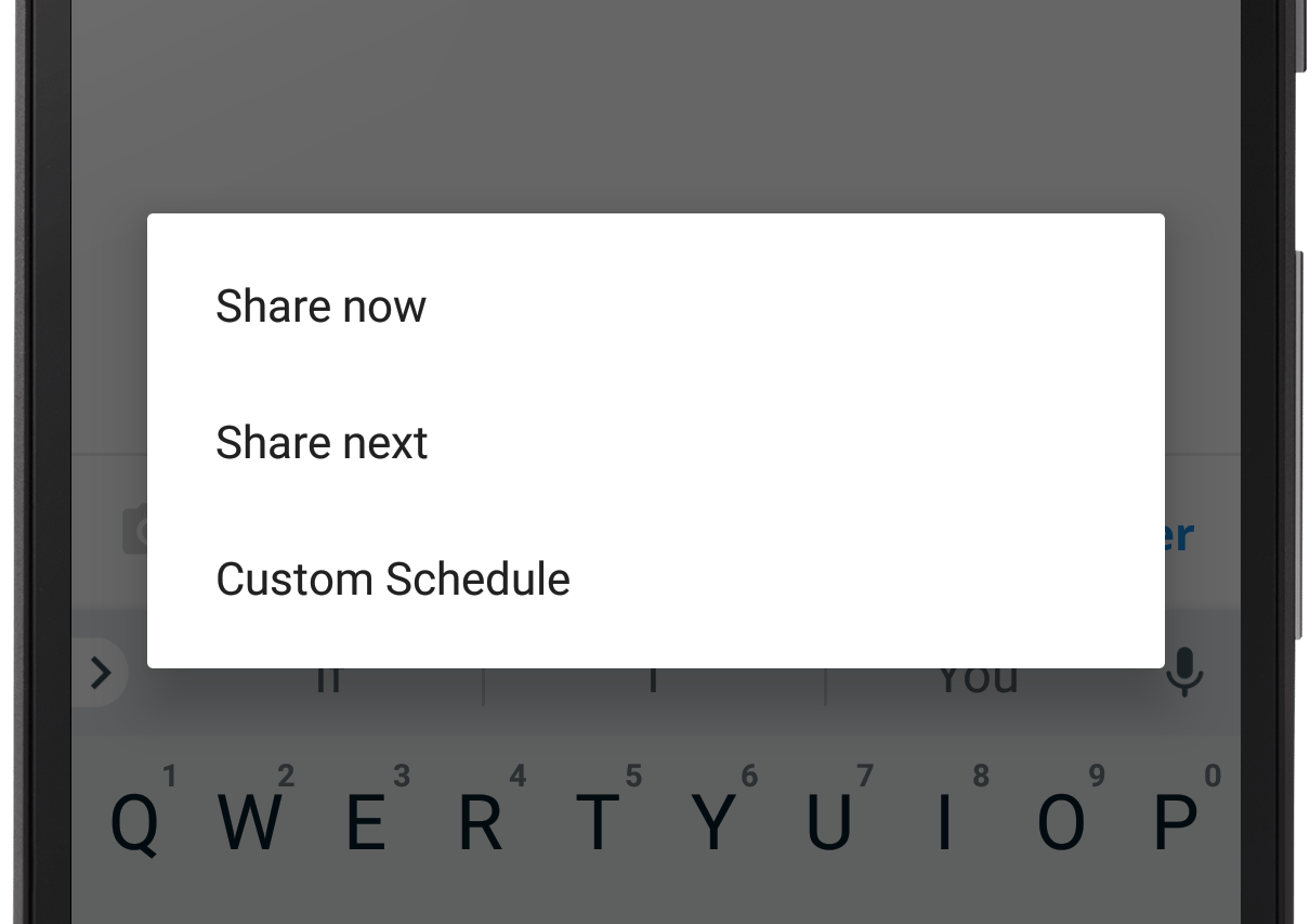 Sharing options (Android)
