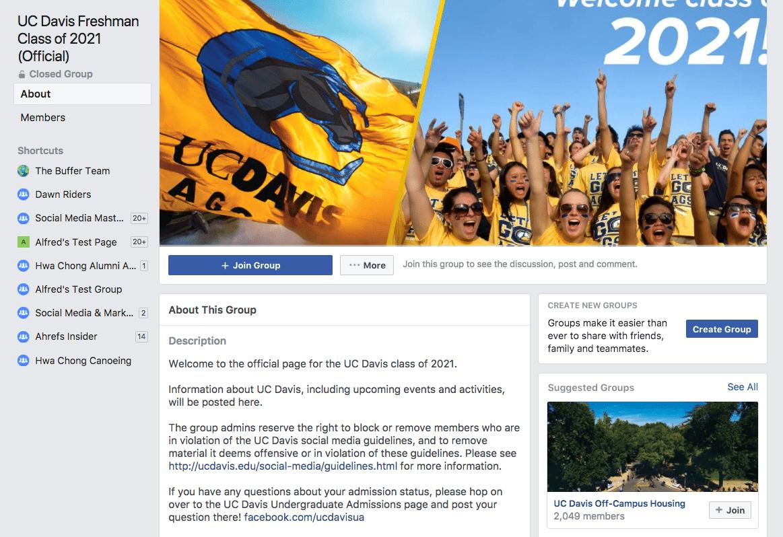 UC Davis Freshman Facebook Group
