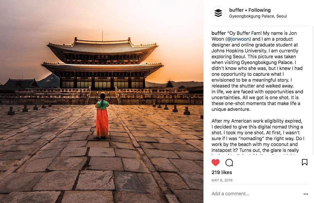 Instagram user-generated content