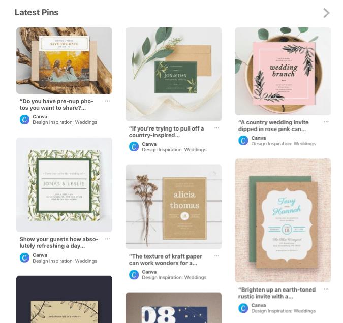 Canva Latest Pinterest Pins