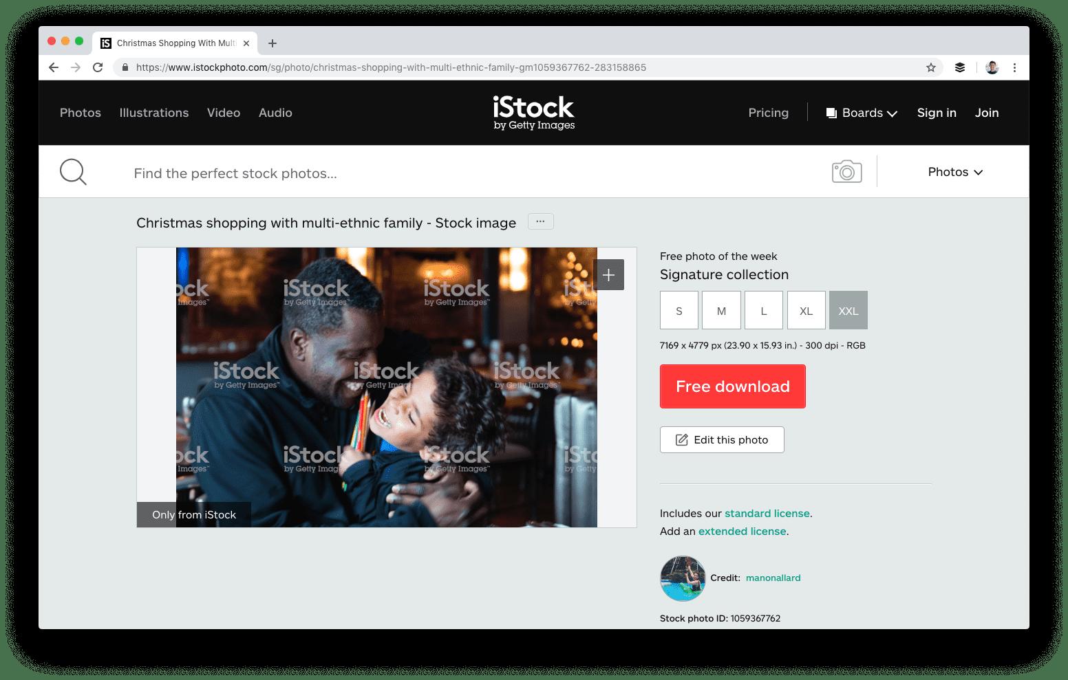 iStock אתרים לתמונות חינם