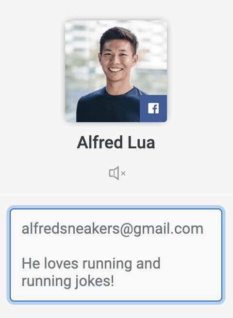 Customer profile in Buffer Reply