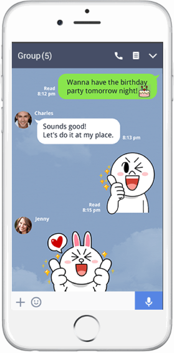 Line app screenshot