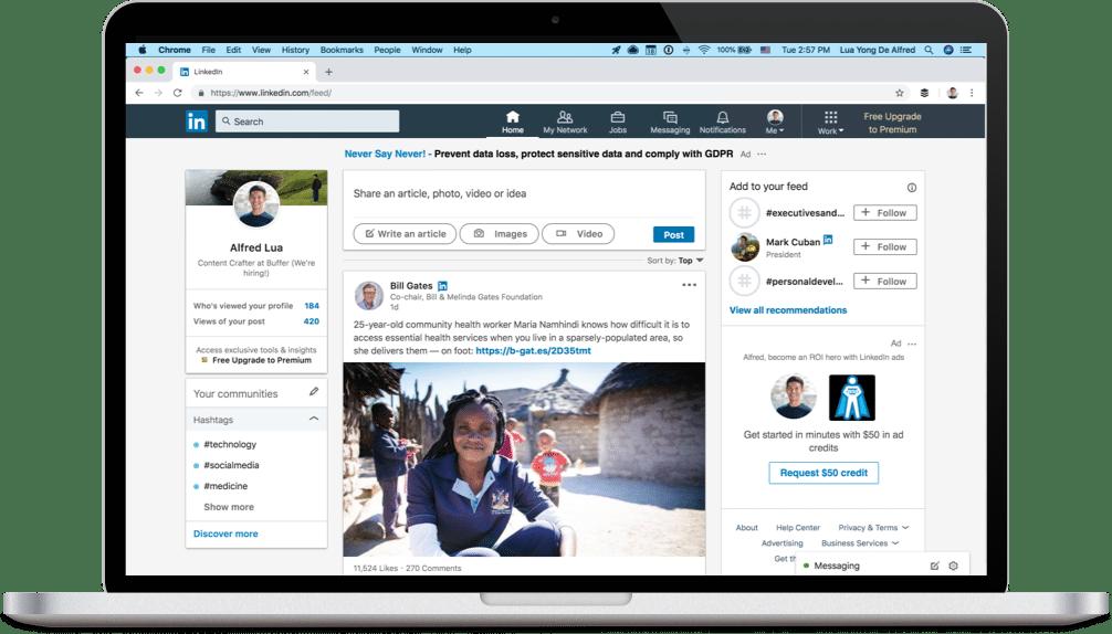 LinkedIn feed screenshot