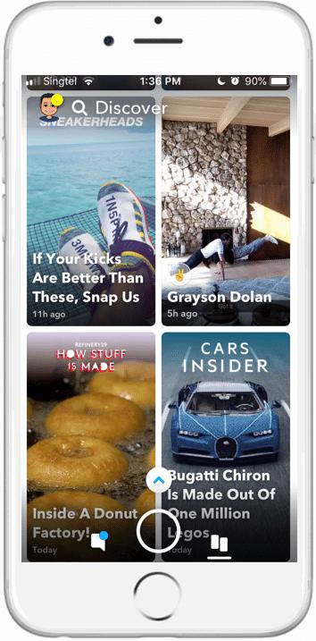 Snapchat discover screenshot