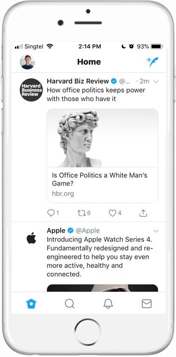 Twitter timeline screenshot