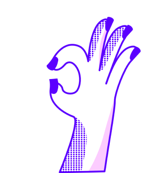 OK hand graphic