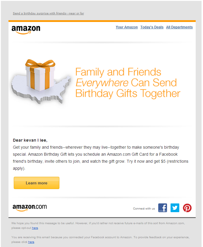 Amazon personalization, email strategies