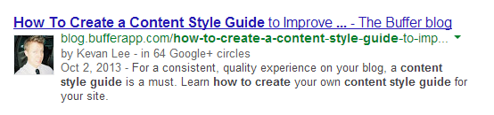 Google authorship rich snippet Kevan Lee