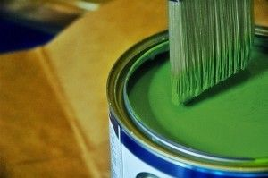 Brush in can of paint