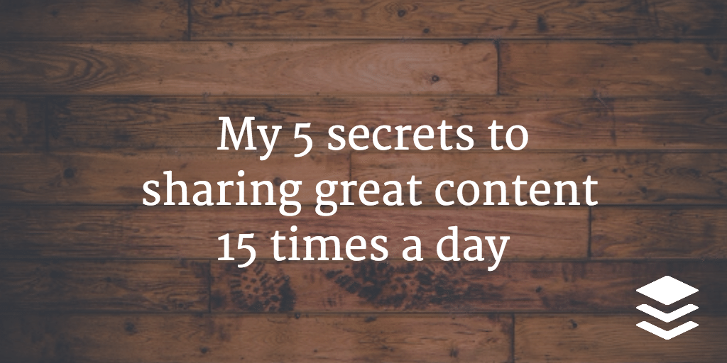 secrets to sharing