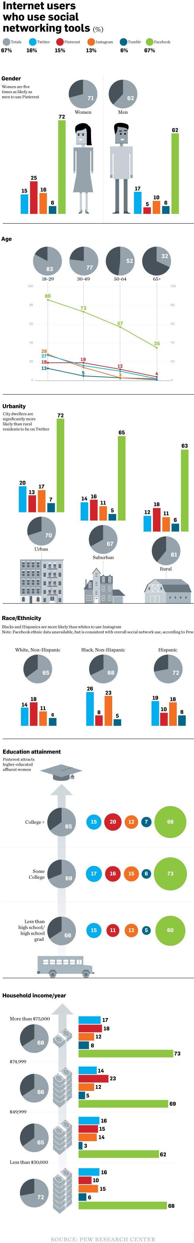 social media demographics in 2013