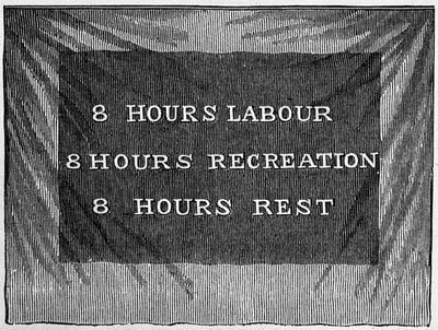 8 hours labour, recreation and rest