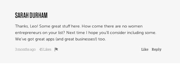 blogging advice - screenshot