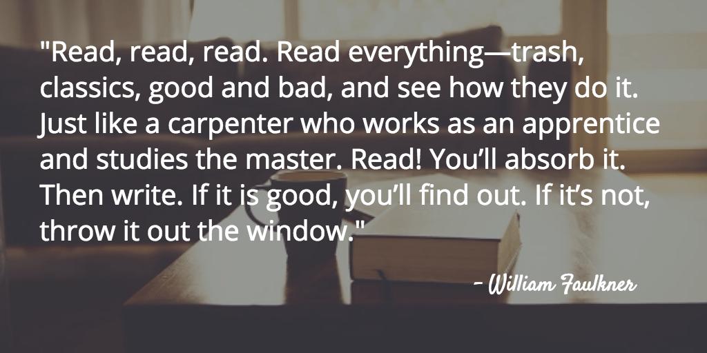 faulkner reading quote