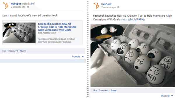 more engaging Facebook page - hubspot image test