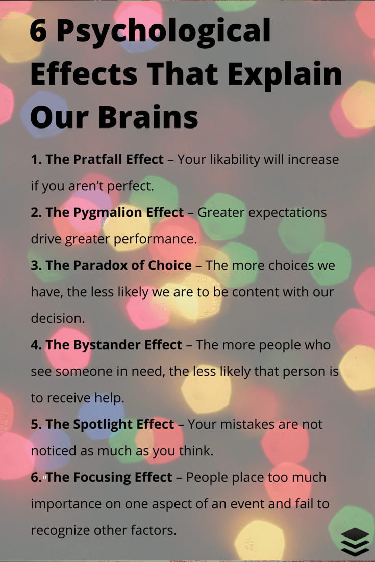 6 psychological effects