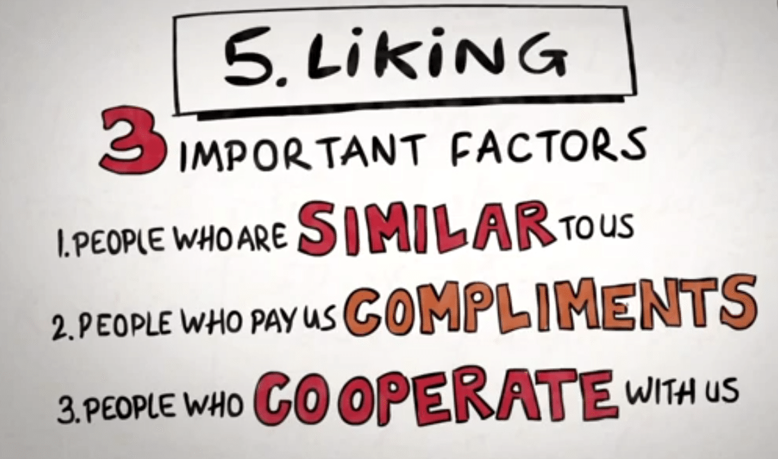 3 Factors: Similar, compliments, cooperative