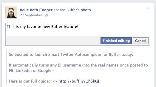 facebook changes - edit post