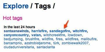 twitter hashtags - sandiegofire tag
