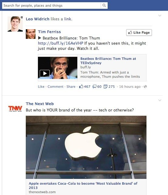 facebook changes - news feed