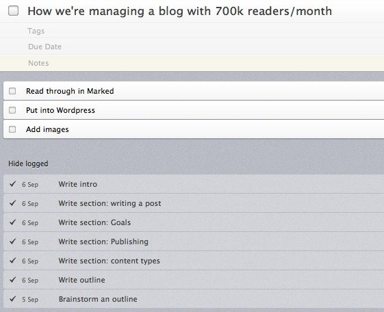 things tasks for blog post manage a blog