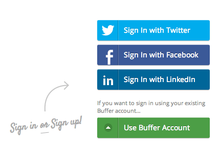 old Buffer login