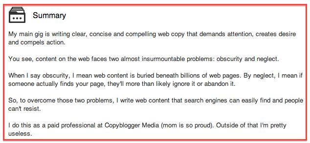 Demian LinkedIn summary