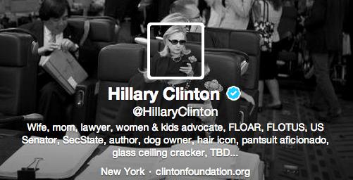 Hillary Twitter Twitter bio