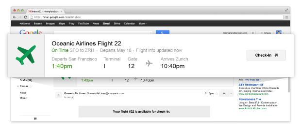 Google flight check