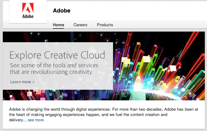 Adobe LinkedIn profile