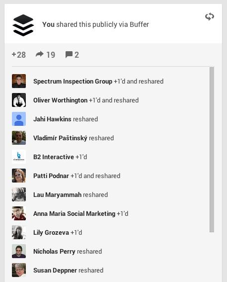 Google+ Activity
