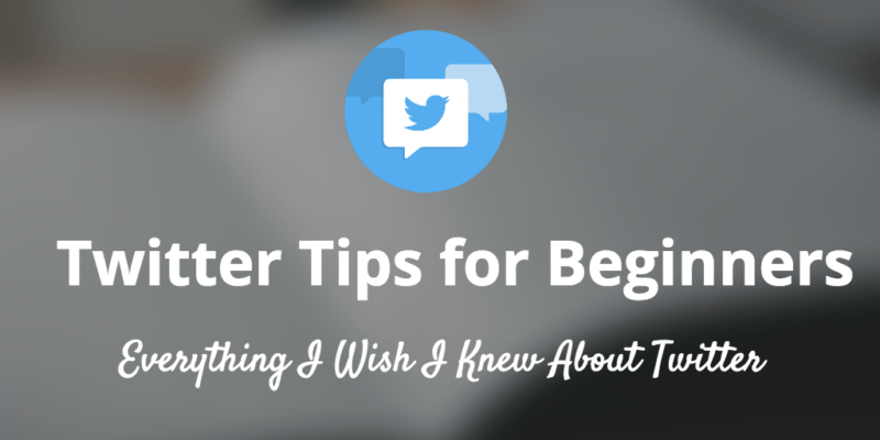 twitter tips beginners