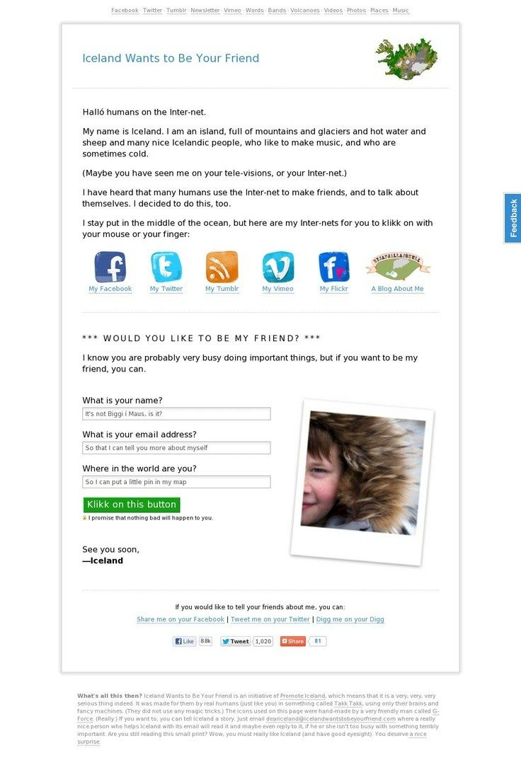 Iceland email