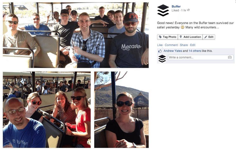 Facebook safari photo