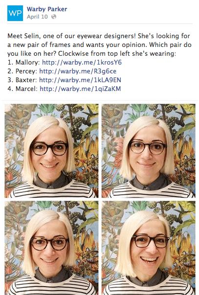 Warby Parker facebook