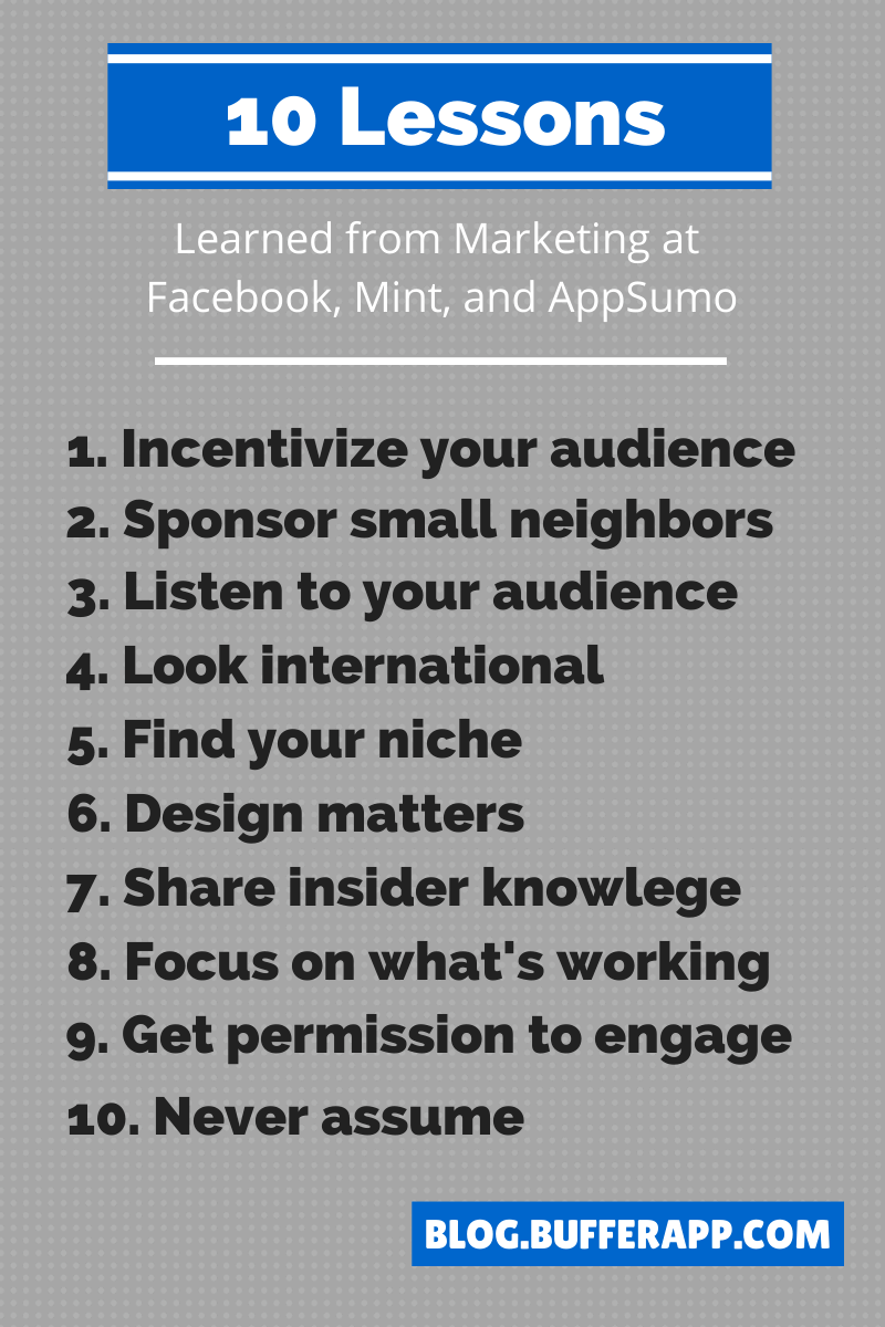 10 Lessons Marketing Facebook
