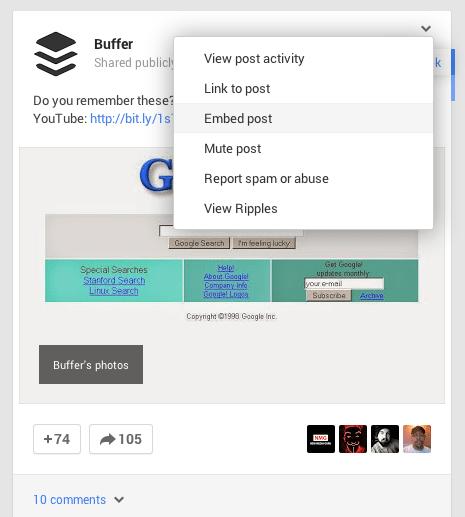 Google+ embed