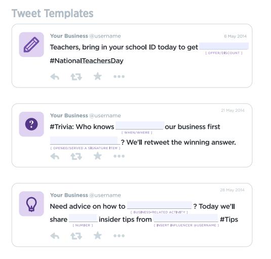 Tweet examples