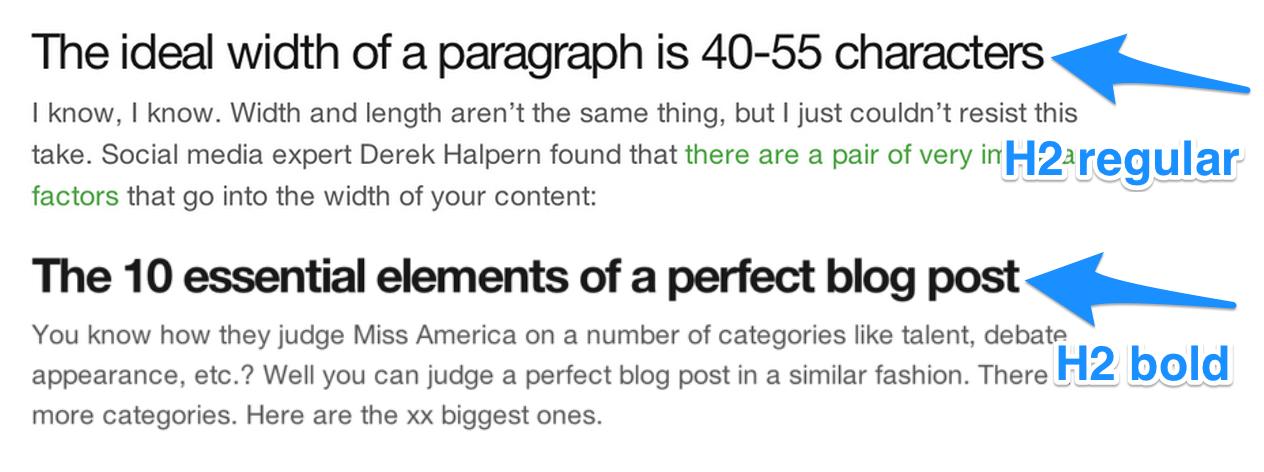 Headline comparisons