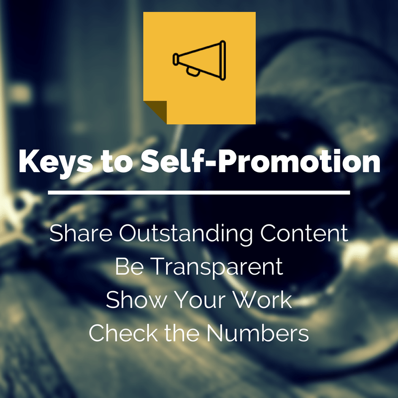 4 keys to self promotion