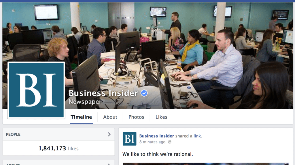Business Insider Facebook Page