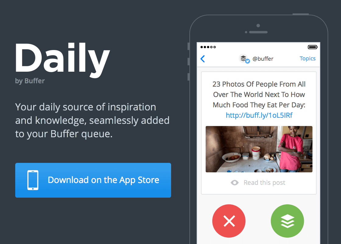 Daily by Buffer - download on the app store