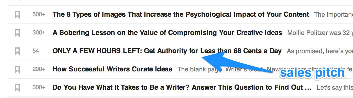 Copyblogger in feedly