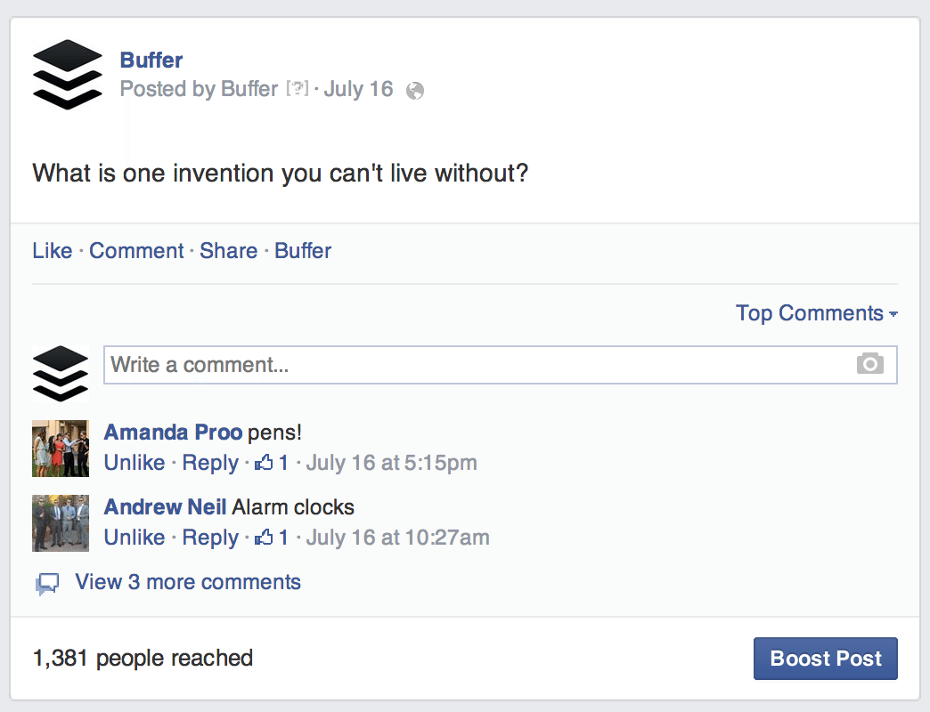 Buffer FB post