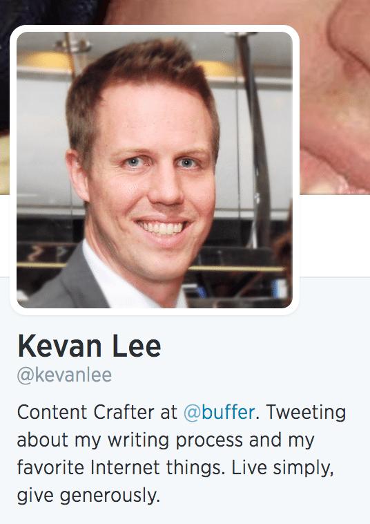 Kevan Lee bio twitter