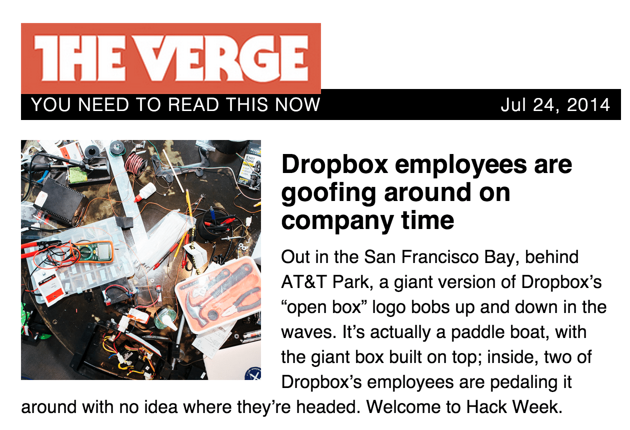 The Verge newsletter