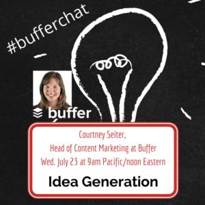 #bufferchat 7.23.14
