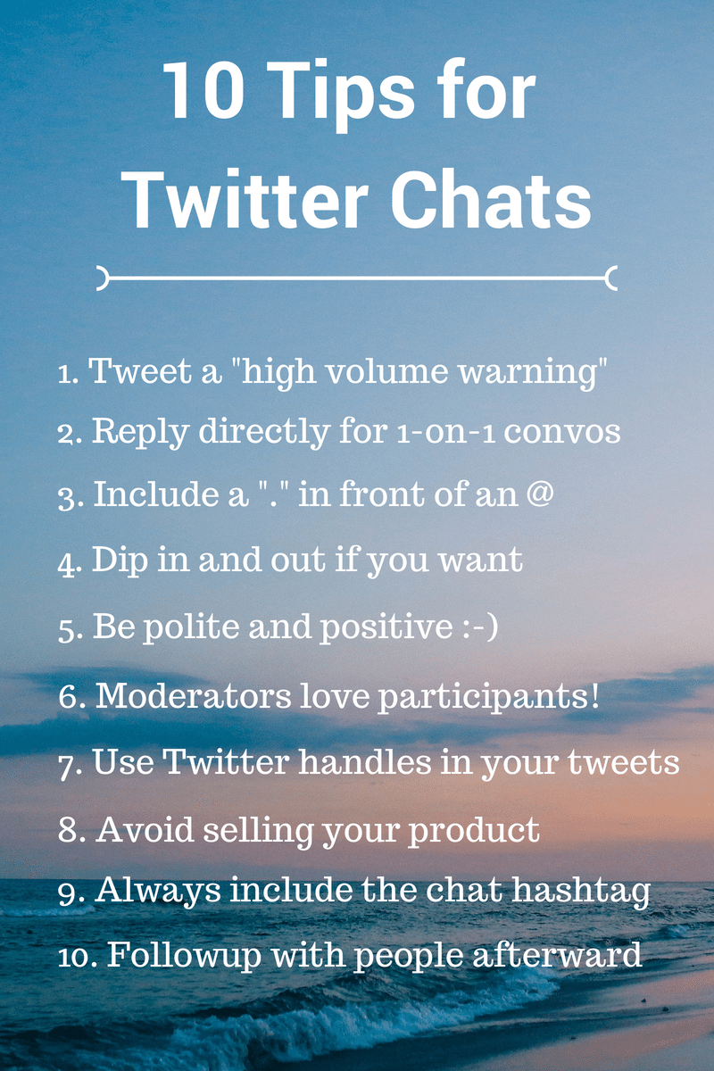 10 Tips for Twitter Chats